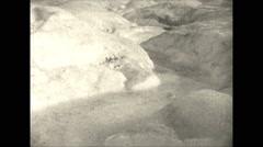 Vintage 16mm film, 1927, Canada, glacial melt-water stream Robson glacier Stock Footage
