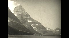 Vintage 16mm film, 1927, Canada, Base Mt Robson Stock Footage