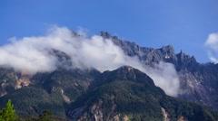 Timelapse over Mount Kinabalu Stock Footage