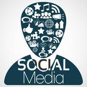 Illustration Vector Graphic Social Media - stock illustration