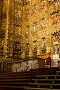 Stock Photo of Main Altar in Seville Cathedral