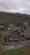 Coal mine Utah mountain nature industry vertical HD Stock Footage