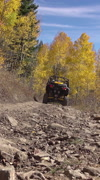 Sport recreation mountain trail 4x4 autumn vertical HD 009 Stock Footage