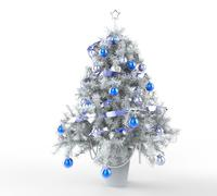 Icy Christmas Tree - stock illustration