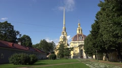 Peter & Paul Cathedral (in 4k), Peter & Paul fortress, St Petersburg, Russia. Stock Footage