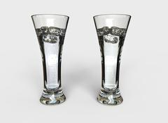 Two Tall Glasses Of Water Stock Illustration