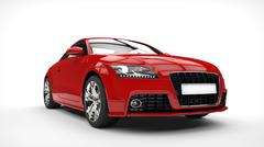 Red Strong Car - stock illustration
