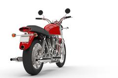 Red Chopper Stock Illustration