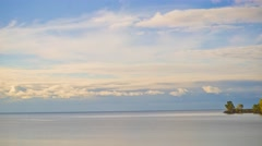Time lapse of lake Ontario view from Sheldon Lookout Stock Footage