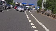 Motorway driving shot - M25 Heathrow London England Stock Footage