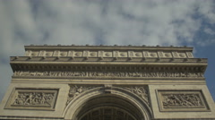Stock Video Footage of Paris Arch of Triumph - bottom view - artistic
