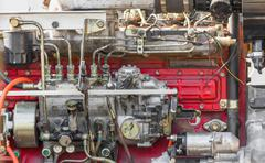 Diesel engine part of power plant Stock Photos