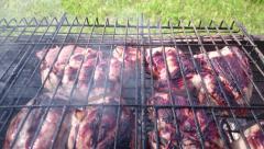 BBQ grill Stock Footage