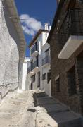Street of Capileira, Las Alpujarras, Granada province, Andalusia, Spain - stock photo