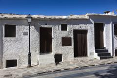 Street of Bubion, Las Alpujarras, Granada province, Andalusia, Spain - stock photo
