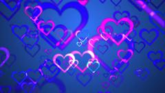 Ambient valentines love hearts abstract background Stock Footage