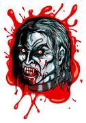 Vampire's head - stock illustration