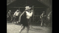 Vintage 16mm film, 1927, Canada, hiking out Stock Footage