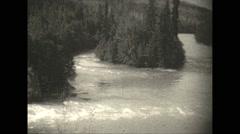 Vintage 16mm film, 1927, Canada, upper Fraser river Stock Footage