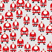 Santa Claus seamless pattern. Christmas background. Ornament of  grandfathers Stock Illustration
