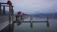 Landscape of three gorges dam Stock Footage