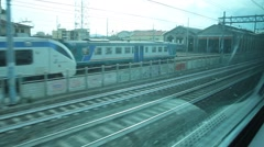 View out from a Window of a Train Stock Footage