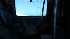 View of internal Italian Train Stock Footage