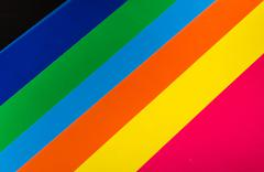 Stock Photo of Background from different sheets of colored paper