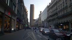 Paris downtown Stock Footage