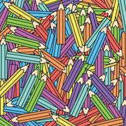 vector color crayons background - stock illustration
