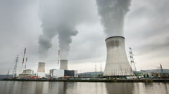 Nuclear Power Plant Time Lapse Stock Footage