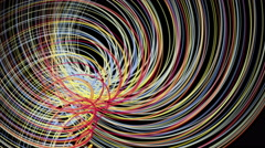 Fantastic video animation with stripe object in motion, 4096x2304 loop 4K - stock footage
