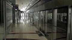 Dubai Metro station Stock Footage