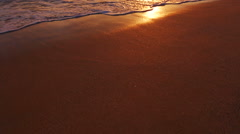 Beutiful Sandy Beach Sunset - stock footage
