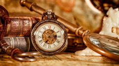 Vintage pocket watch Arkistovideo