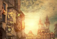 Stock Photo of One of the famous popular travel place in world - Prague under s