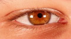 Timelapse Human eye. - stock footage