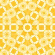 Seamless hexagon pattern yellow orange - stock illustration