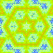 Seamless hexagon pattern yellow green blue Stock Illustration