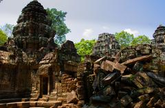 Stone temple Angkor Wat - stock photo
