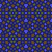Seamless hexagon pattern blue brown green - stock illustration