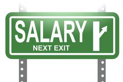 Salary green sign board isolated - stock illustration