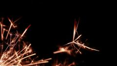 Firework sparkler burning, Dolly shot Stock Footage