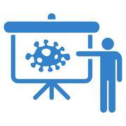 Bacteria Lecture Icon Stock Illustration