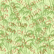 Abstract seamless background with bamboo - stock illustration