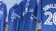 Toronto blue jays jersey for sale Stock Footage