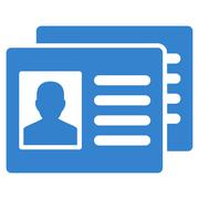 Patient Accounts Icon - stock illustration