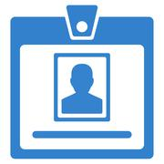 Person Badge Icon - stock illustration