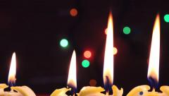 Candle light, romantic holiday and celebration background Stock Footage