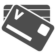 Banking Cards Icon - stock illustration